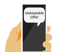 SMS unbeatable offer